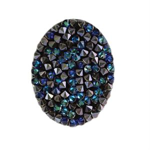 Picture of Large Bermuda Blue Crystal Oval Screen